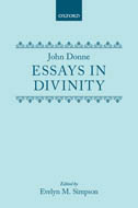 Essays in Divinity by John Donne