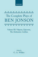 The Complete Plays of Ben Jonson, Vol. 3