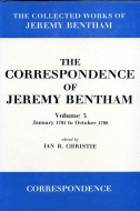 The Collected Works of Jeremy Bentham: The Correspondence of Jeremy Bentham, Vol. 3: January 1781 to October 1788January 1781 to October 1788